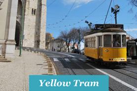 Portuguese yeallow tram