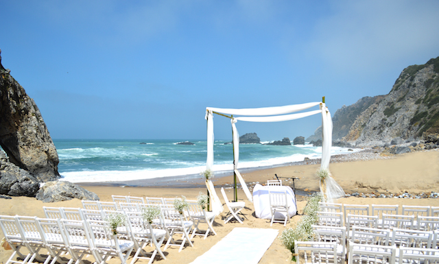 beach wedding in portugal